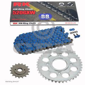 Chain Set Ducati Monster 900 Ie 2002 Chain RK BB 520 Gxw 100 Blue Open 15/38