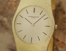 Vacheron Constantin 18k Gold 32mm Rare 1970 Manual Swiss Mens Dress Watch GG32