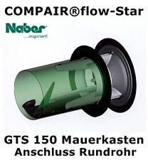 COMPAIR®flow-Star Mauerkasten GTS 150 Anschluss Rundrohr Niedrigenergiehaus