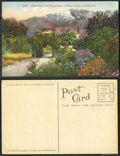 Unused Pre-1940 Postcard-#2740-Flower Beds and Snow Banks,Beautiful Winter Scene