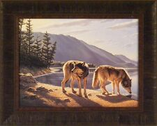 Pause On The Way by Paul Krapf 17x21 Wolf Wolves Timberwolf Framed Print Picture