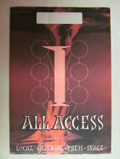 MADONNA DROWNED 2001 WORLD TOUR UNUSED ALL ACCESS RED CATERING BACKSTAGE PASS