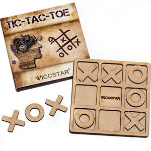 Family Noughts and Crosses game XOXO Tic Tac Toe for Kids adults Garden Party