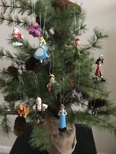 12 Disney Christmas Tree Decoration, Alice In Wonderland Pinocchio Peter Pan.