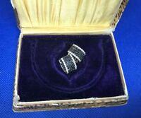 New 14K Effy Black & White Genuine Diamond Huggie Earrings 1.25 TCW 1.25 TCW