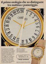 X3154 Orologio WINTEX 24 ore - Pubblicità d'epoca - 1986 vintage advertising