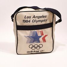 Vtg 1984 ADIDAS Los Angeles Summer Olympics Over The Shoulder White Bag