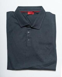 Isaia Nwt Grigio Manica Corta Extra Slim Fit Polo 100% Cotone XL