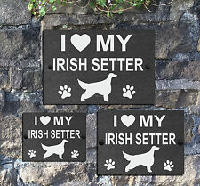 I Love my Dog with Heart Slate Gate House Sign 3 Sizes ALL BREEDS AVAILABLE D-L