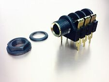 """1/4"""" Female Chassis Mount Connector - 2 Conductor - Phone Jack  SWITCHED OPTION"""