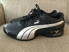 bfae0c56c4a Mens PUMA Leather Running Shoes ECO ORTHOLITE Black Silver 12 EXCELLENT