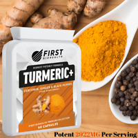 Turmeric Curcumin Capsules | BioPerine® Black Pepper High Strength Tumeric Pills