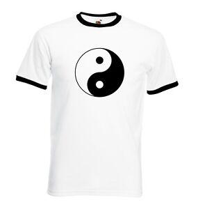 Yin and Yang T Shirt Classic Chinese Yin-Yang symbol FOTL Ringer or Baseball tee
