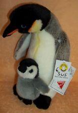 PELUCHE PINGUINO CON BABY  by VENTURELLI  H 25 CM  cod. 9325