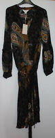 Monsoon Belted Silk Boho Dress Size 10 New With Tags
