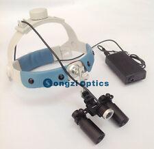 6X Headband Kepler Binocular Medical Surgical Loupes with LED Headlight