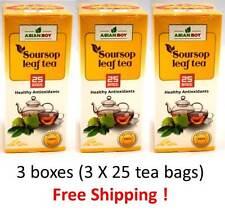 Soursop Leaf Tea, Asian Boy Healthy Antioxidants Tea 3 boxes (3X25 Tea Bags)