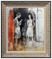 Jean Jansem Oil Painting On Canvas Original Female Portrait Signed Art Framed