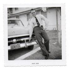 PHOTO ANCIENNE Voiture Auto Automobile 1958 USA Américaine California Plaque
