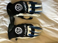 Lange white leather gloves size small