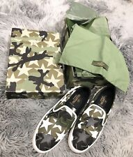 114921e410a6a NIB VALENTINO GARAVANI Camustars Camo Slip-on Canvas Sneakers Shoes 10/40  $845