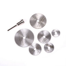 7Pieces/ set Cutoff Kreissäge HSS Rotary Blades Werkzeug Schneidscheiben Dorn YR