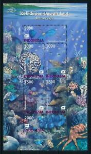 Indonesia #MiBl175 MNH M/S CV€4.80 2002 Marine Life Coral Fish Octopus [1994c]