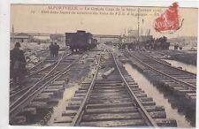 CPA 94140 ALFORTVILLE Crue de la Seine 1910 état voies rails  P.L.M. Edit ca1910