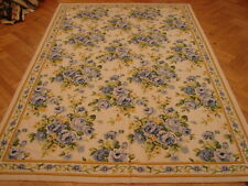 Purple color Roses design 6x9 French Needlepoint Rug