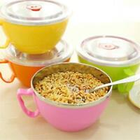 Leak Proof Soup Bowl Food Container Lid Handle Noodle Rice Storage Steel Pasta