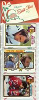1979 Topps Football Holiday Christmas Rack Pack HOF Newsome Shell Campbell RC?A2