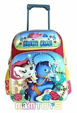 Disney Sheriff Callie Large Rolling Trolley Roller Backpack School Bag