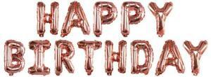 Buchstabenballons Happy Birthday Ballons Rosegold 40cm Luftballon Folienballons