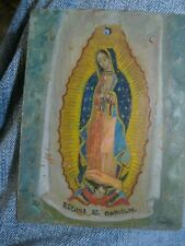 ORIGINAL RETABLO ON COPPER OUR LADY OF GUADALUPE SIGNED ''MORO'' GREAT CONDITION