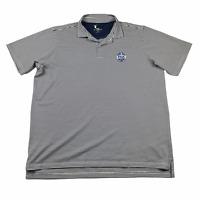 FAIRWAY & GREENE FG Tech Golf Polo Shirt White Black Striped USA Made XXL 2XL