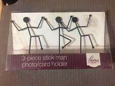 PHOTO/CARD HOLDER 3-PIECE STICK MAN