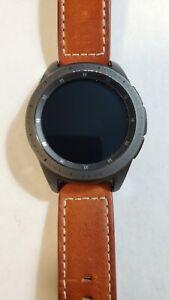 Samsung Galaxy Watch SM-R810 42mm Midnight Black Case Leather Bluetooth 012