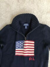 Polo Ralph Lauren Cotton Flag Sweater Youth L 14/16