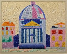 """""""Dome Church"""" Oil Painting by MacCarthy Mor, from Morocco KING'S ROOM, PROVENANC"""