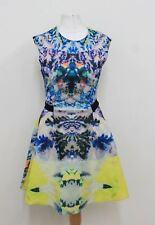 H&M Damas Vestido Patinador multicolores Estampadas Sin Mangas Elástico EU34 UK6