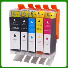 5x PGI570XL CLI571XL Ink Cartridge For CANON  MG5750 MG5751 MG5752 MG6850 MG6800