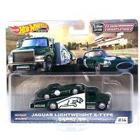Hot Wheels Team Transport Jaguar Lightweight E-Type Carry On Kids Diecast Toy