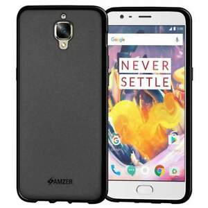 AMZER Pudding TPU Case Skin Fit Back Protective Cover for OnePlus 3T - Black