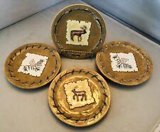 New listing MWW Market Mini Plates Coasters Set Of 4 Deer & Pine