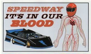 SPEEDWAY IT'S IN OUR BLOOD  LATE MODEL Retro Sticker