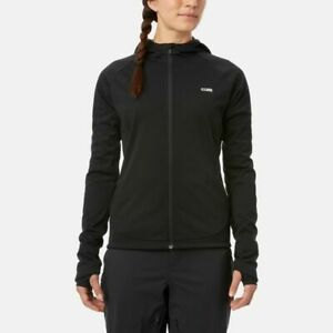 Giro Womens Ambient Hooded Cycling Jacket - Black