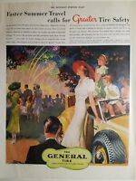 1937 the General Tire & rubber Co faster summer travel ad