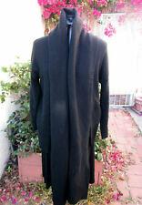 Yohji Yamamoto black wool sweater deconstructed lapels cardigan M Made in Japan,