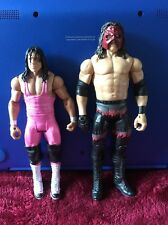 WWE Mattel Basic Bret The Hitman Hart And Kane With Removable Mask 6 Inch Figure