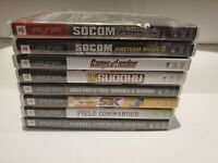 Lot Of 8 PSP Games - Socom, Medal of Honor, Field Commander, Gangs of London